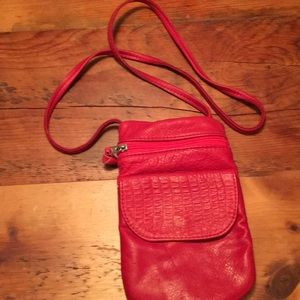 Handbags - Red beautiful fine leather purse